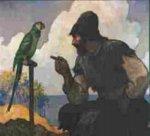 N.C. Wyeth illustrations to Robinson Crusoe
