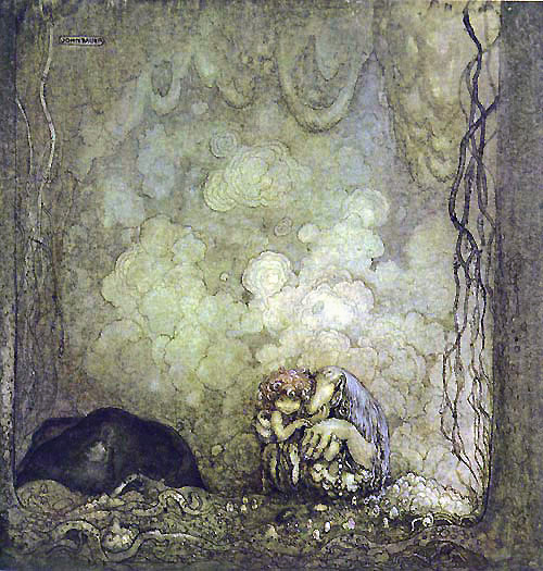 bauer fairy tale illustration. Pinned for later from artpassions.net