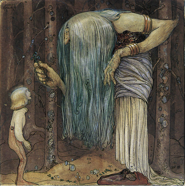 I Will Give You This Magic Herb  Bland Tomtar Och Troll  John Bauer illustration