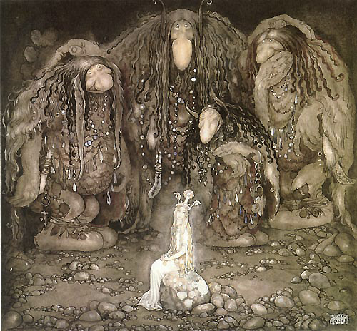 The Princess and the Troll Sons  The Troll Motehr Seeks a Wife  John Bauer illustration