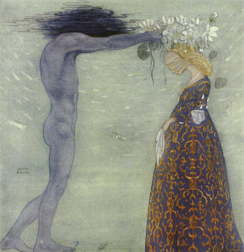 Agneta and the Sea King     John Bauer illustration