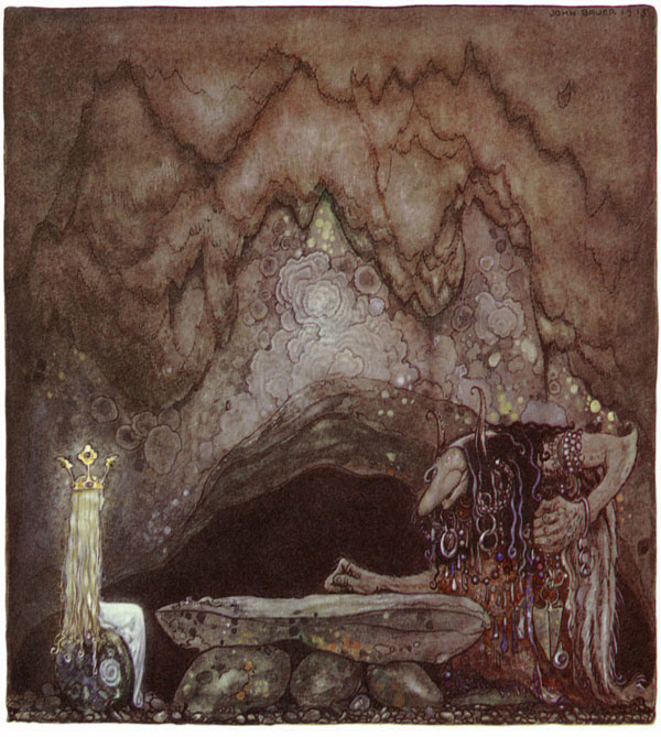 Did You Like Your Meal?  The Troll Mother Seeks a Wife  John Bauer illustration