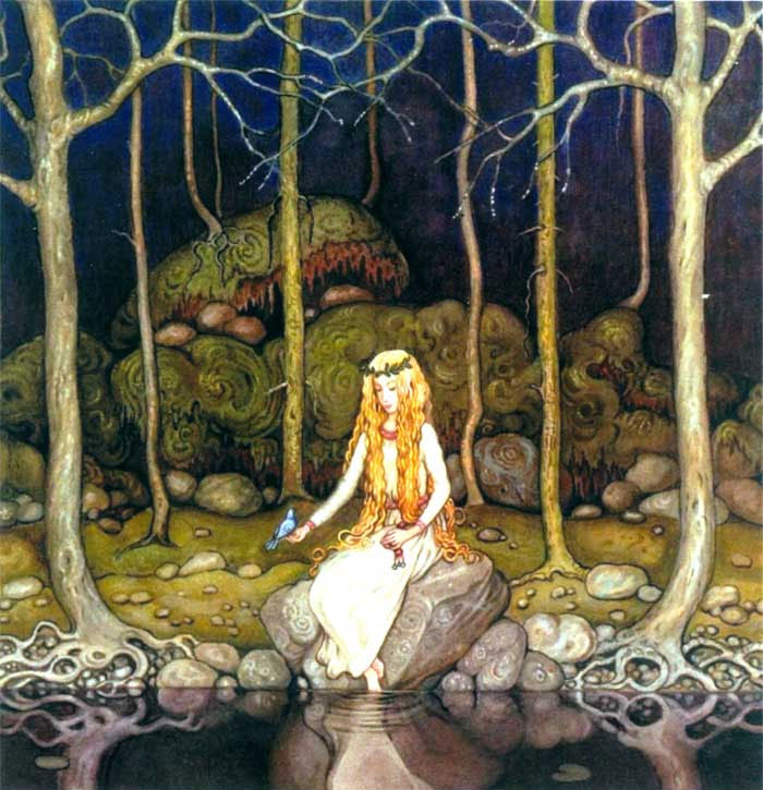 Freja  Later paintings  John Bauer illustration