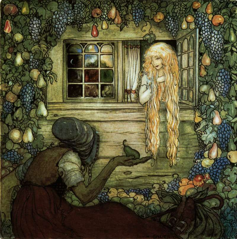 Alvida's Window  The Magicians Cape  John Bauer illustration
