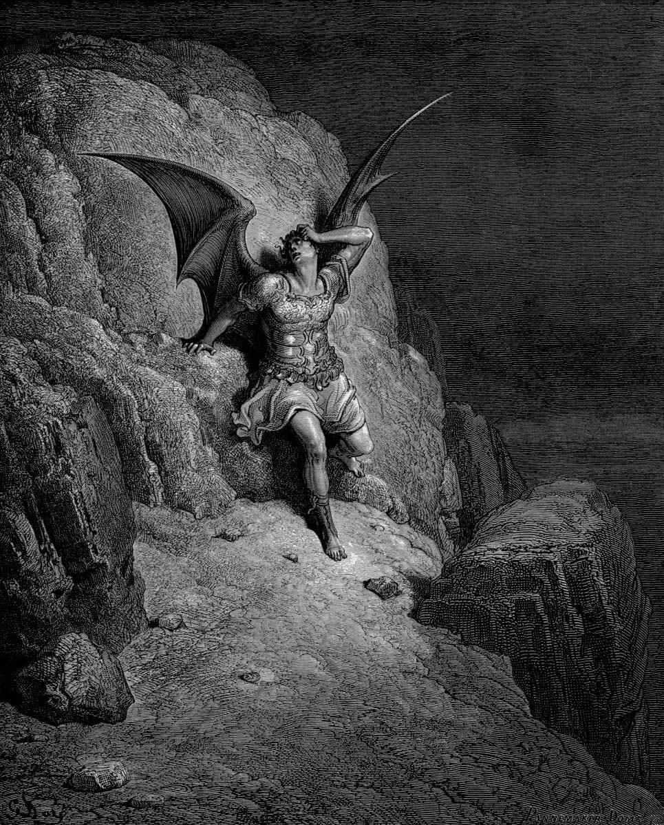 Me Miserable, Which Way Shall I Fly? Gustave Dore illustration to Paradise Lost