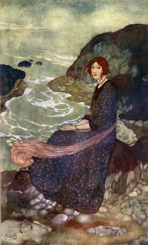 What sees thou else in the dark backward and abysm of time      The Tempest  Edmund Dulac illustration