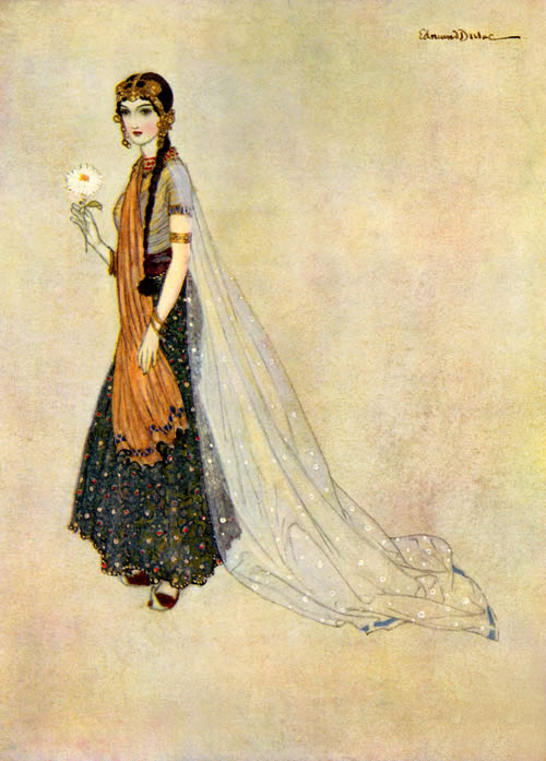 Aseneth from Edmund Dulac Picture Book for the Red Cross