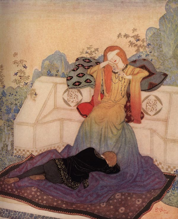 The Woman He Could Not Leave    Dreamer of Dreams  Edmund Dulac illustration