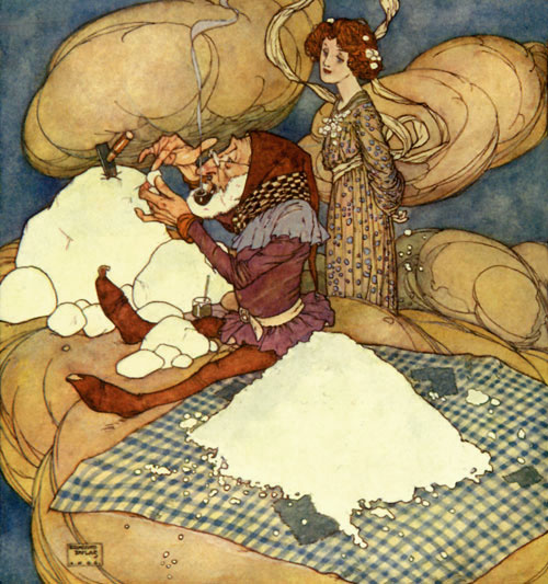 Drop of Crystal was too busy to speak.   Fairies I have Met  Edmund Dulac illustration