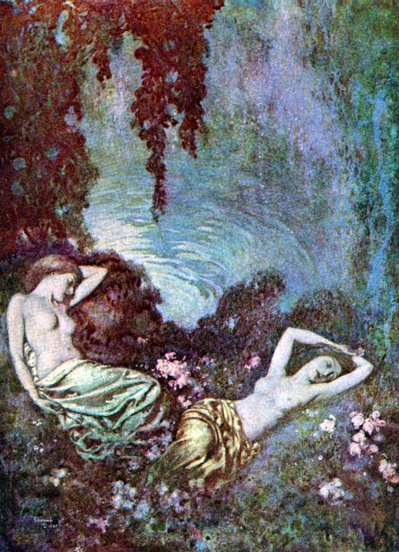 Al Aaraaf    The Raven  Edmund Dulac illustration