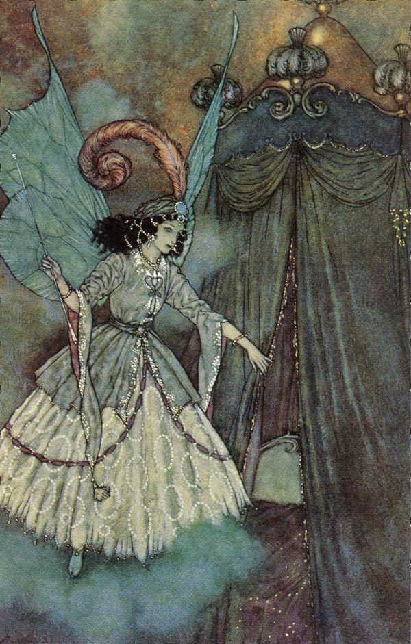 A higher destiny lies before you    Beauty and the Beast  Edmund Dulac illustration