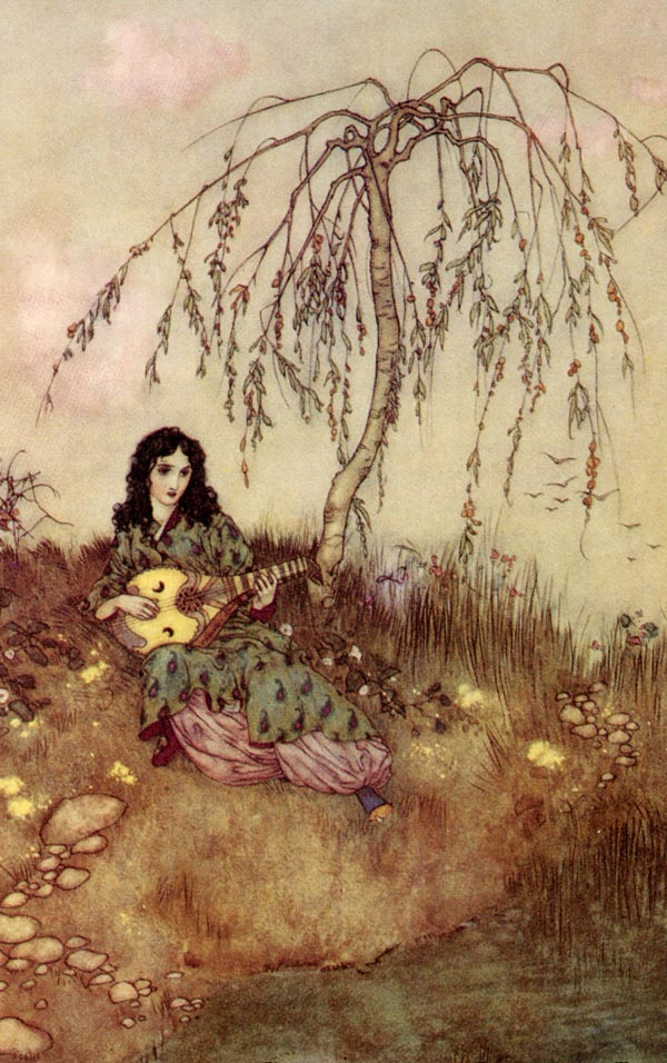 Beauty had a Brave Heart    Beauty and the Beast  Edmund Dulac illustration