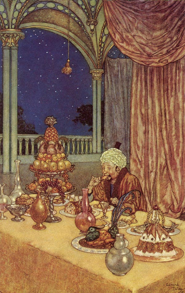 A Palace of Wonder  Beauty and the Beast  Edmund Dulac illustration