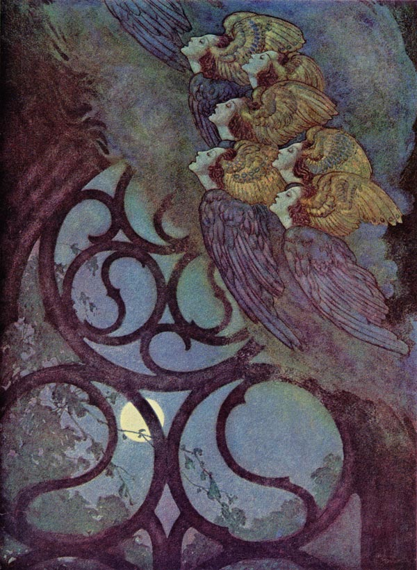 The Bells    The Raven  Edmund Dulac illustration