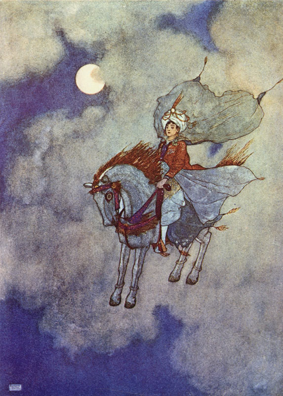 Daylight Faded from View    Arabian Nights  Edmund Dulac illustration