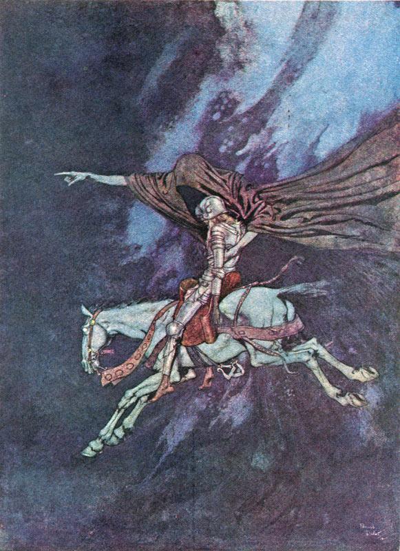 Eldorado    The Raven  Edmund Dulac illustration