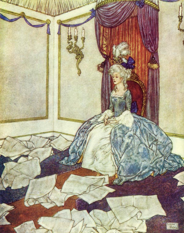 She had read all the newspapers in the world    The Snow Queen  Edmund Dulac illustration