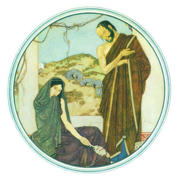 True Spartan Hearts  Princess Mary's Gift Book  Edmund Dulac illustration