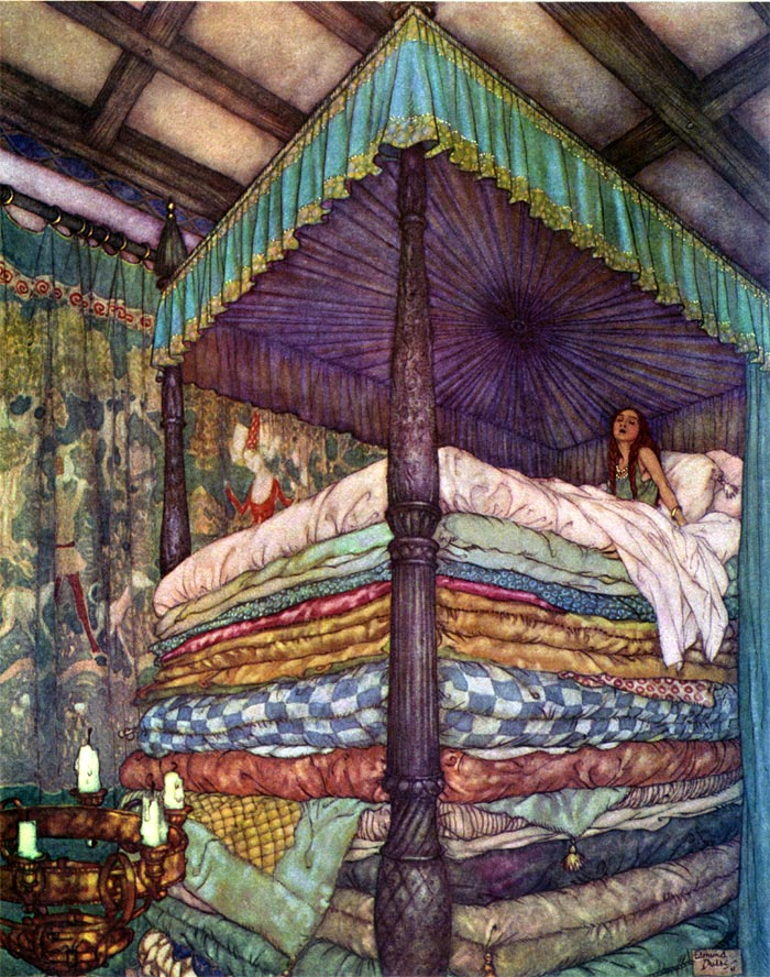 Dulac, The Real Princess    Fairy Tales of Hans Christian Andersen  Edmund Dulac illustration