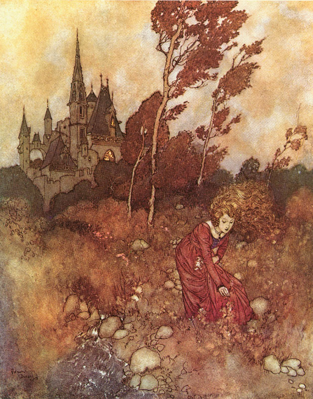 The Wind's Tale    Fairy Tales of Hans Christian Andersen  Edmund Dulac illustration