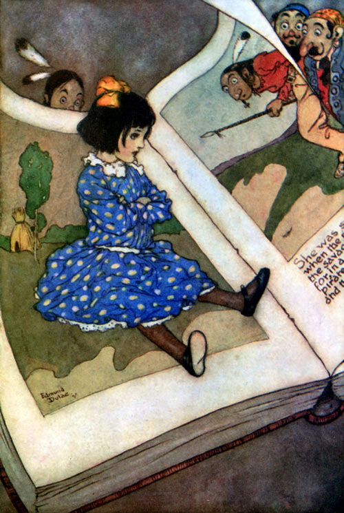 Little Girl in a Book  Fairies I have Met  Edmund Dulac illustration