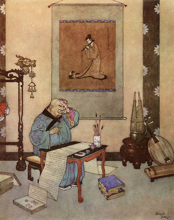 The Nightingale, The Music Master  The Nightingale  Edmund Dulac illustration
