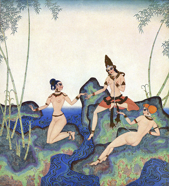Pearl of the Bamboo by Edmund Dulac - 13 x 16 inches     Kingdom of the Pearl  Edmund Dulac illustration