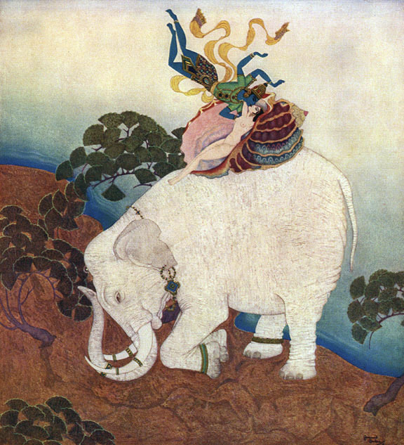 Pearl of the Elephant by Edmund Dulac     Kingdom of the Pearl  Edmund Dulac illustration