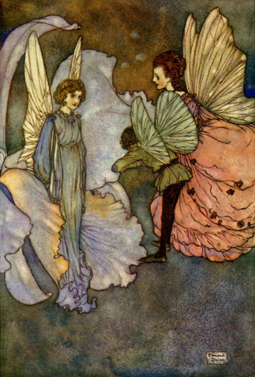 Princess Orchid's Party  Fairies I have Met  Edmund Dulac illustration