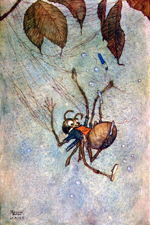 The Big Spider's Diamonds  Fairies I have Met  Edmund Dulac illustration