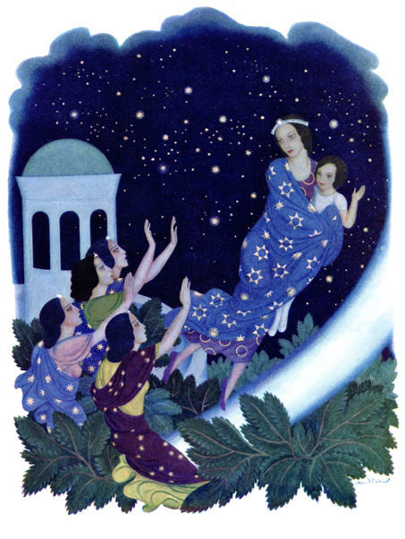 Edmund Dulac illustration to Daughters of the Stars, Astrella