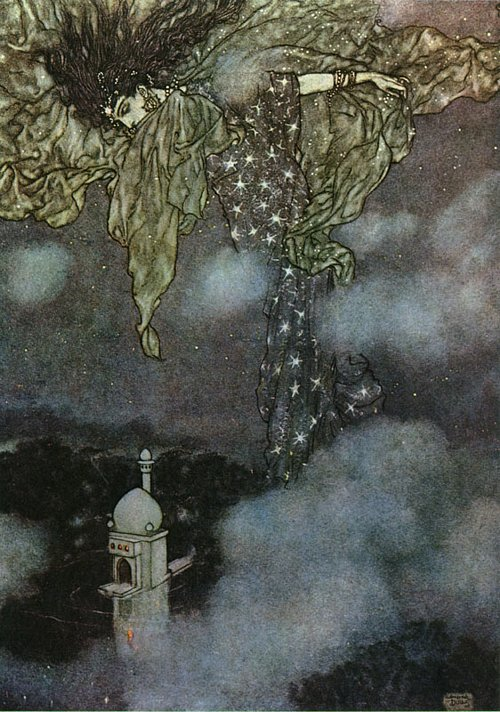 Night   Rubaiyat  Edmund Dulac illustration