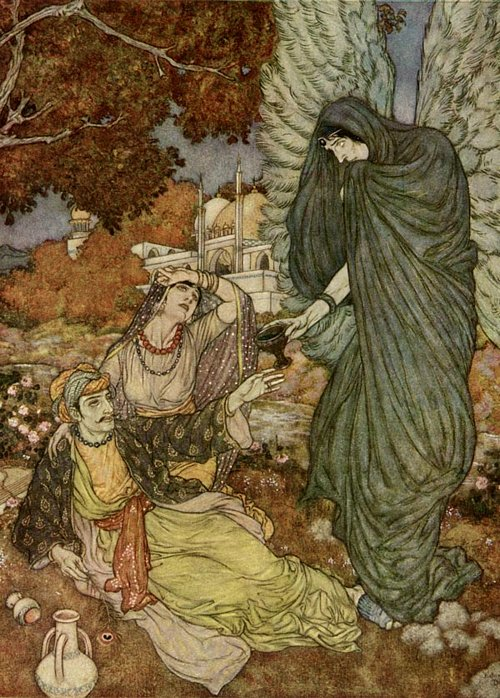 The Angel of the Drink of Darkness    Rubaiyat  Edmund Dulac illustration