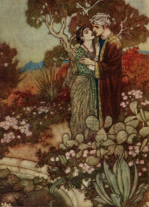 Hour of Grace    Rubaiyat  Edmund Dulac illustration