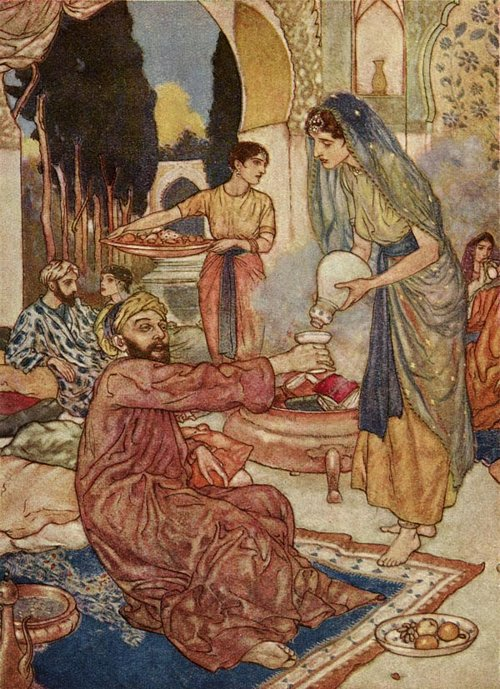 A New Marriage    Rubaiyat  Edmund Dulac illustration