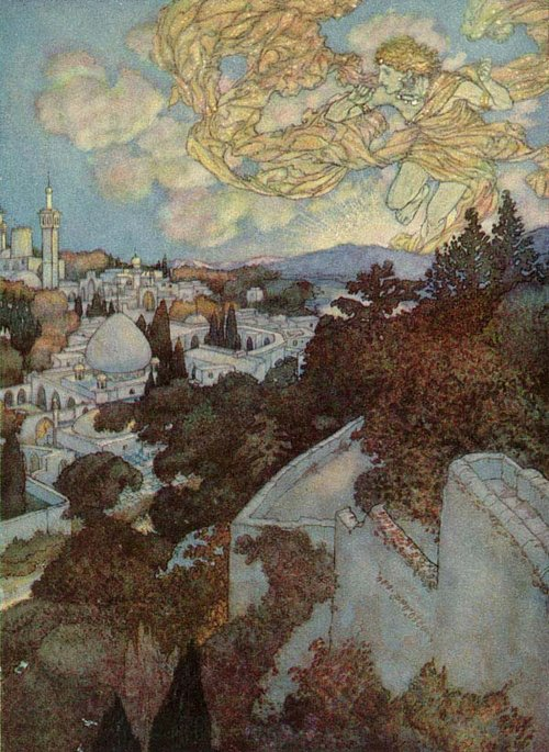 Morning and the Sleeve of Night             Rubaiyat  Edmund Dulac illustration