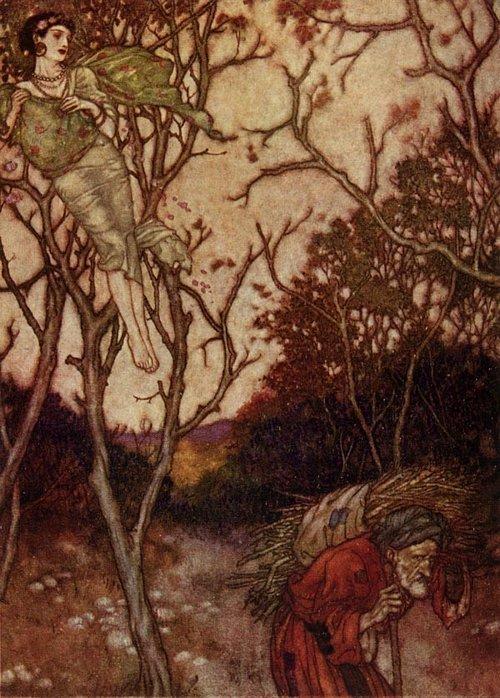Alas that Spring should Vanish with the Rose    Rubaiyat  Edmund Dulac illustration