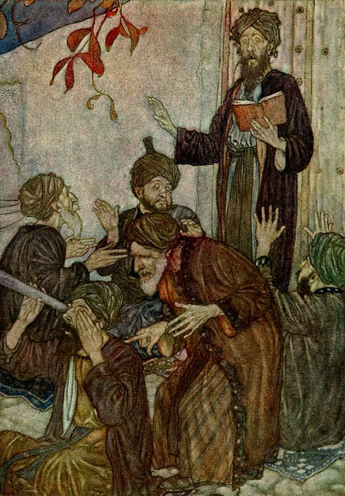 All are but stories, which awoke from Sleep    Rubaiyat  Edmund Dulac illustration