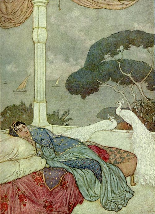 Heaven but the Vision of fulfilled Desire    Rubaiyat  Edmund Dulac illustration