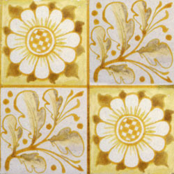 William Morris patterned tile: Longden