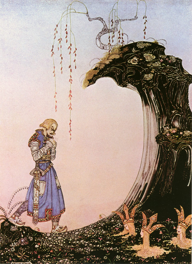 You Will See Three Princesses  In Powder and Crinoline  Kay Nielsen illustration