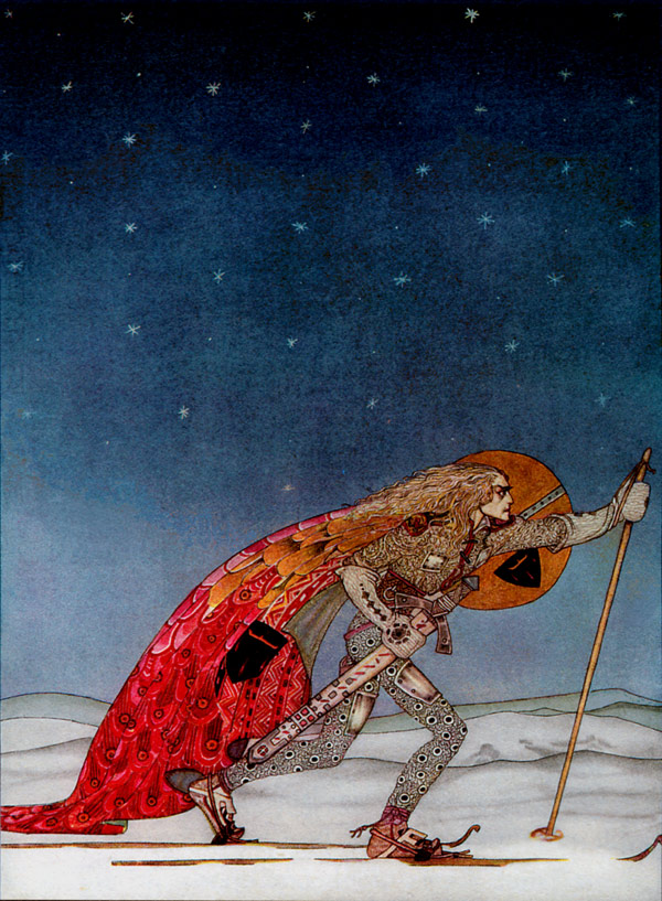 A pair of Snowshoes  East of the Sun, West of the Moon  Kay Nielsen illustration