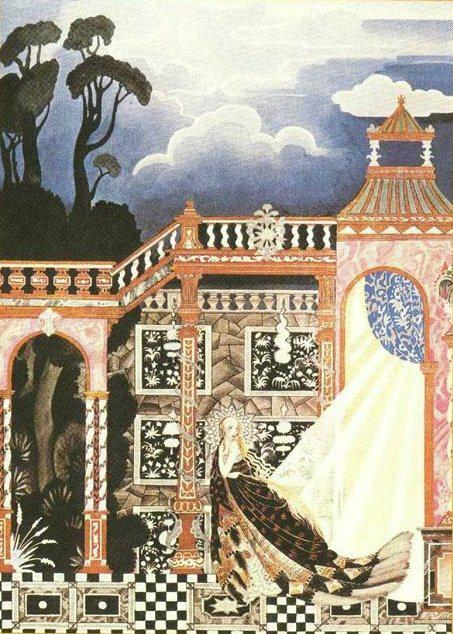 Catskin, or Alleleirauh  Fairy Tales of the Brothers Grimm  Kay Nielsen illustration