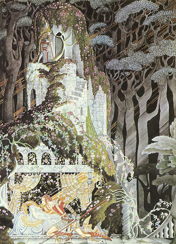 Rosebud, or Sleeping Beauty     Fairy Tales of the Brothers Grimm  Kay Nielsen illustration