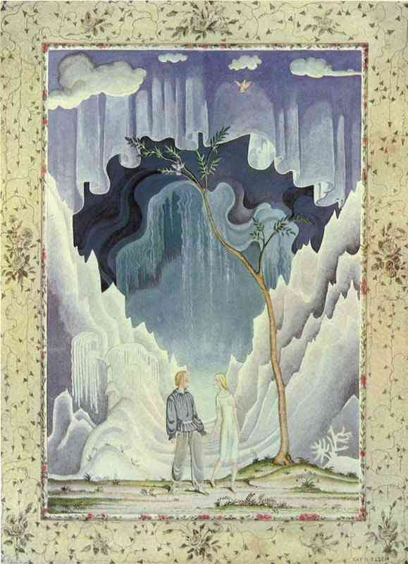 Kay and Gerda understood  The Snow Queen  Kay Nielsen illustration