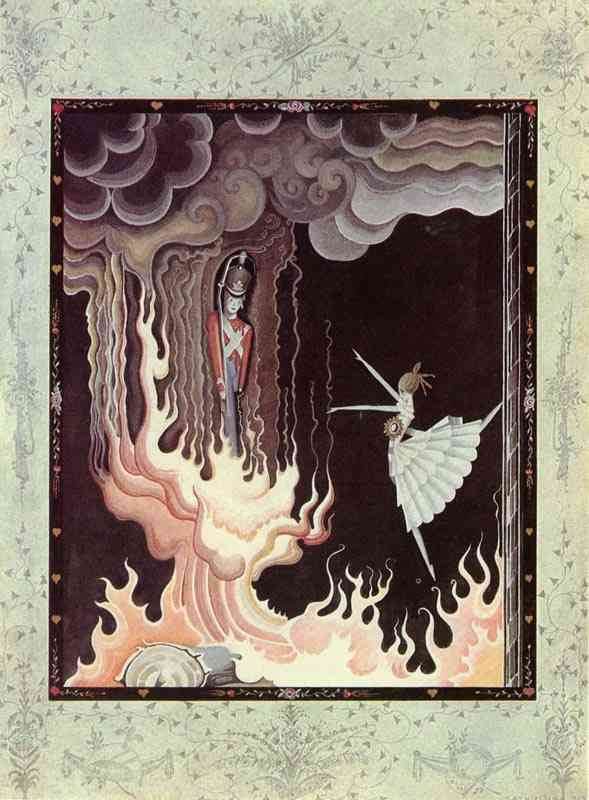 The Tin Soldier and the Dancer  The Flying Trunk  Kay Nielsen illustration