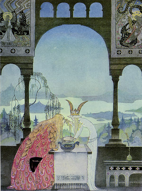 The Queen Did Not Know Him  East of the Sun, West of the Moon  Kay Nielsen illustration