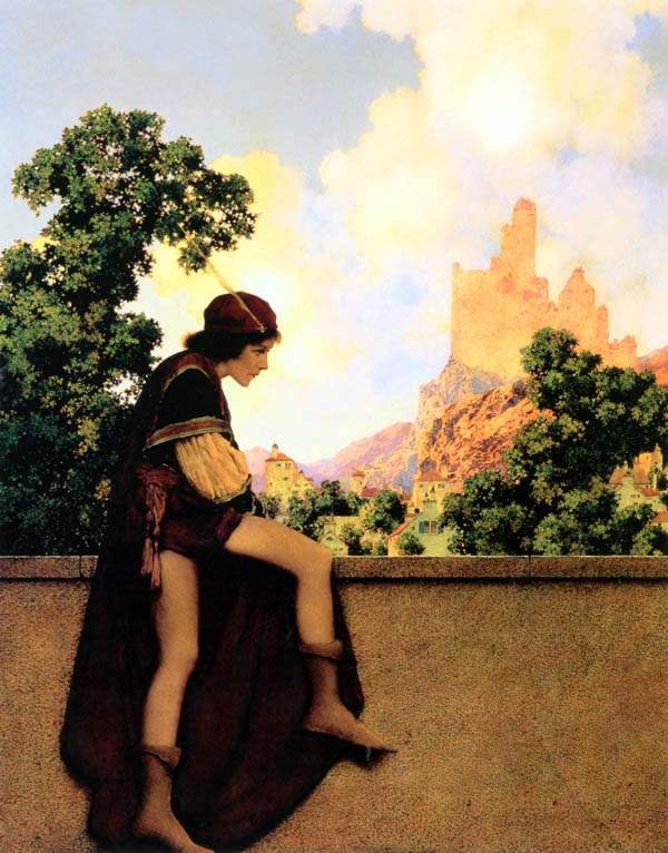 parrish fairy tale illustration. Pinned for later from artpassions.net