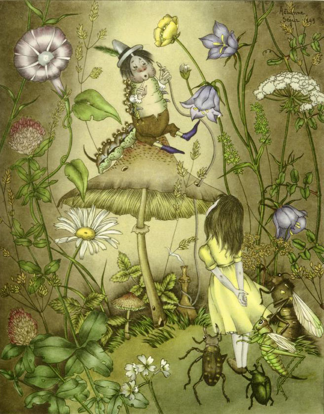 Alice and the Creatures    Alice in Wonderland  Adrienne Segur illustration