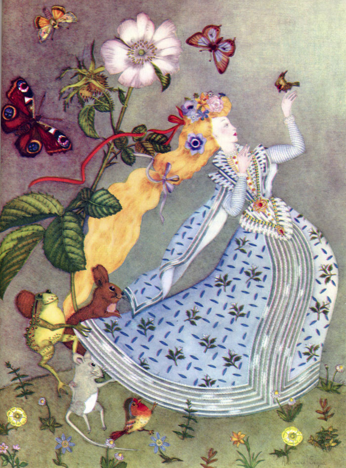 Dawn the Golden Haired  The Fairy Tale Book  Adrienne Segur illustration